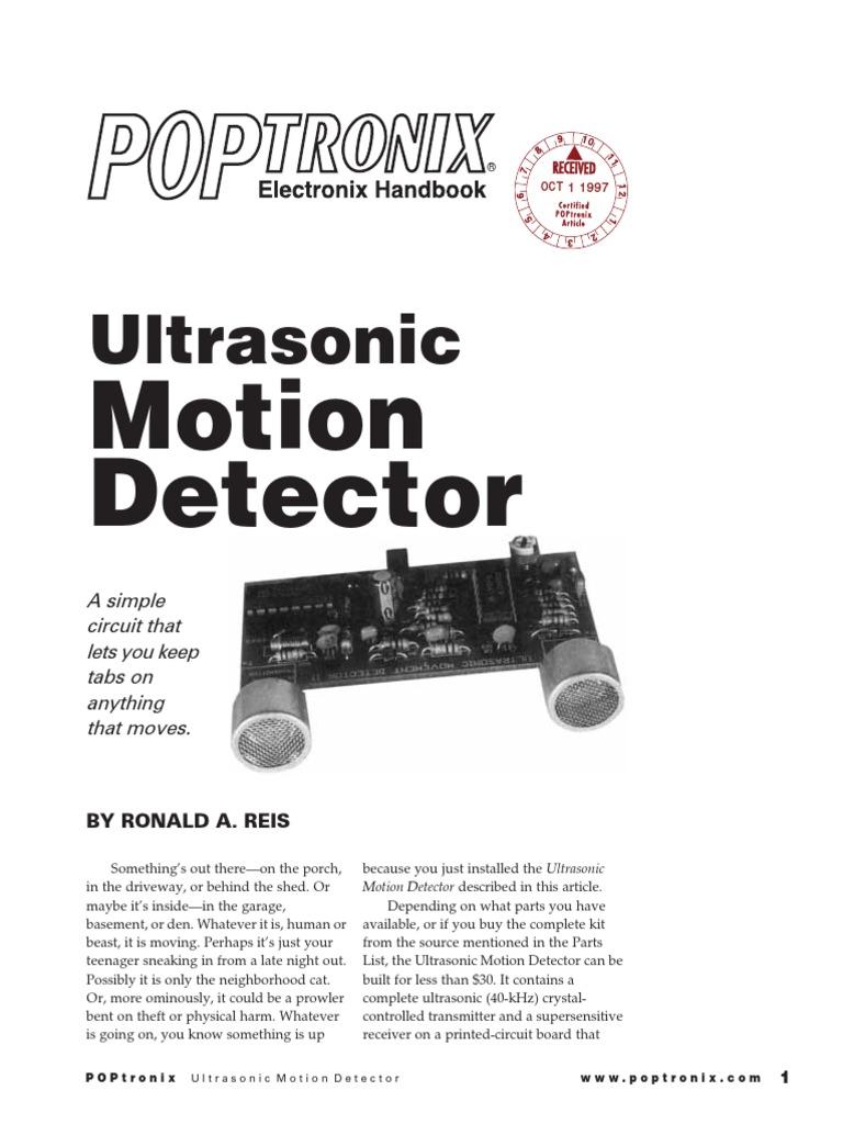 Ultrasonic Motion Detector Radio Relay 40khz Transmitter Circuit
