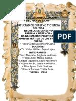 FAMILIA Y HERENCIA-ORGANIZACION POLITICA Y ADMINISTRATIVA DE LOS INCAS HECHO.docx