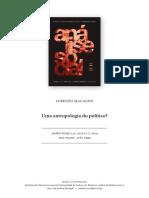 Uma Antropologia Do Político_Lorenzo Macagno