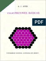 Ayer, A. J. - Proposiciones Básicas (UNAM, 1981)