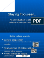 Stable Isotope Analyses