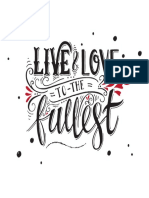 Live and Love_lettering