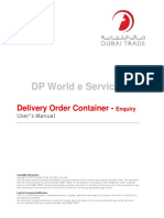 Delivery Order Container - Enquiry