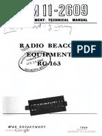 TM11-2609 Radio Beacon Equipment RC-163