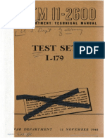 TM11-2600 Test Set I-179, 1944