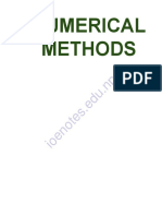 Numerical Methods Notes by Ioenotes.edu.Np