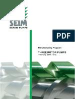 SEIM Manufacturing Program Screw Pumps Febr.2011 Rev.2a