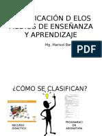 Clasificación d Elos Medios de Enseñanza y Aprendizaje
