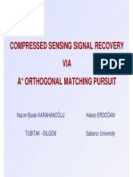 Compressed Sensing Signal Recovery via a Orthogonal Matching Pursuit