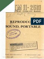 TM11-2561 Reproducer, Sound, Portable, 1944