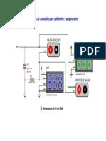 Diagrama de Conexion Del Voltimetro y Amperimetro