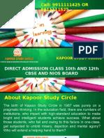 NIOS Admission 2017-18 for Class 10th or 12th in NIOS Delhi Board - Kapoor Study Circle