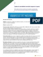 Parto Domiciliario Triplica Mortalidad Neonatal