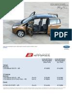 Lista de Preturi Ford b Max