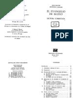 JUAN MATEOS FERNANDO CAMACHO - EL EVANGELIO DE MATEO. EDICIONES CRISTIANDAD.pdf