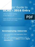 Briefing Slides for UCAS 2016