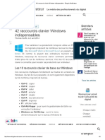 42 Raccourcis Clavier Windows Indispensables