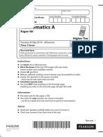 Igcse Paper 4h June 2014