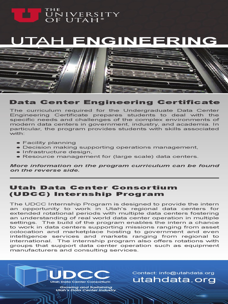 Data Center Engineering Certificate Program Data Center Engineering