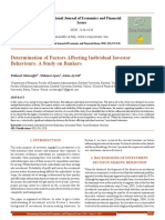 Determination of Factors Affecting Individual Investor Behaviours