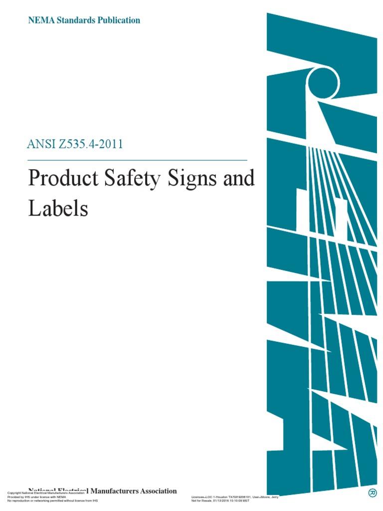 295662161 ansi z535 4pdfpdf standardization safety nvjuhfo Choice Image
