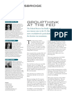 Groupthink at the Fed