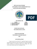 makalah penganggaran publik