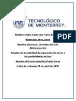 MI - U2 - Actividad 1. La educación de antes y las posibilidades de hoy..docx