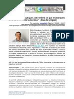 """""""La BCE doit s'appliquer à elle-même ce que les banques amorcent en matière de climat"""" (Alain Grandjean, AEF)"""