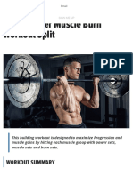 4 Day Power Muscle Burn Workout Split _ Muscle & Strength