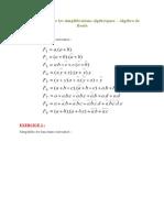 EXERCICES Sur Les Simplifications Algébriques
