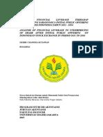 Analisis Financial Leverage Terhadap Underpricing Saham Pasca Initial Public Offering Di Bursa Efek Indonesia Tahun 2013
