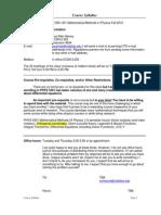 UT Dallas Syllabus for phys5301.501.10f taught by Paul Mac Alevey (paulmac)