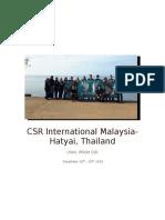 Hatyai Report