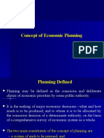 Concept of Economic Planning
