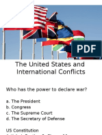 us and international conflicts
