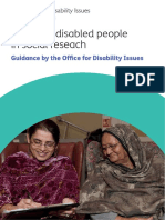 Involving Disabled People in Social Research