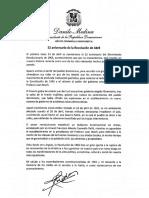 Mensaje del presidente Danilo Medina en ocasión 52 aniversario de la Revolución de Abril
