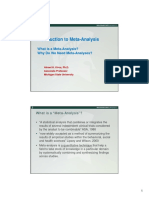 1Definition and Role of Meta-Analysis