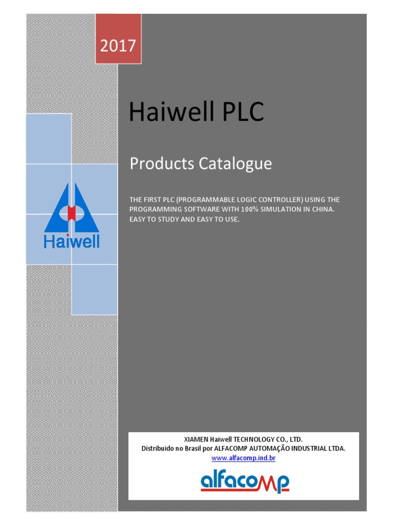 Haiwell Catlogo Geral De Clps Programmable Logic Controller Current Level Relay Sm115 Input Output
