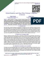 Hybrid Bamboo and Glass Fiber Polymer Composite – A Review