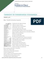 _Samadhi_ by Paramhansa Yogananda - Nayaswamis Jyotish and Devi