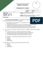 Prueba Autoridades de Chile 4° básico