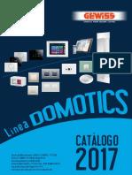 201701 Gewiss Catálogo Domotics 2017