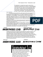 Title sequence fonts essay 'Anonymous Lead'.docx