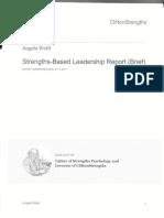 strengths based leadership report