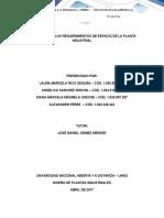 FASE 4. Definir Los Requerimiento de Espacio de La Planta Industrial - Propuesta Consolidado