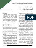 Costul Reciclarii Si Compostarii