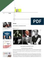 Platea Magazine - Sergiu Celibidache