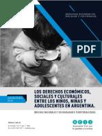Los derechos económicos, sociales y culturales entre los niños, niñas y adolescentes en Argentina. Brechas nacionales y desigualdades territorializadas